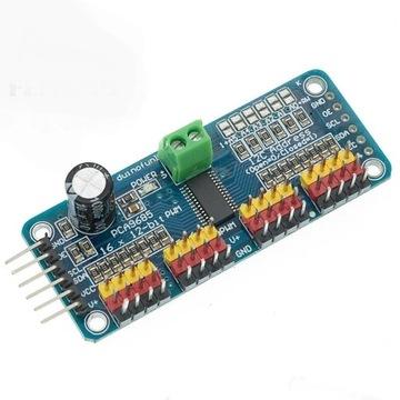 Moduł sterownika PWM 16 kanałów PCA9685 12-bit I2C