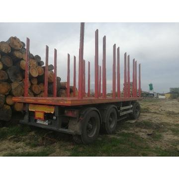 Przyczepa do transportu drewna, leśna, platforma
