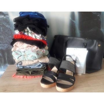 ZESTAW ładnych ubrań S/M. ZARA, H&M, Orsay, buty.