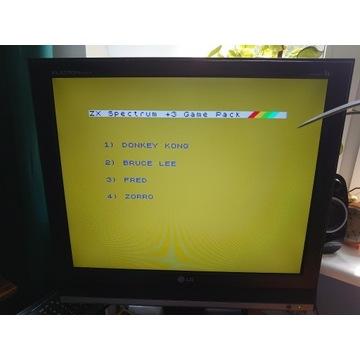 ZX SPECTRUM 128 K + 3 DYSKIETKA 3 GRY