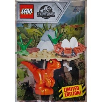 LEGO JURASSIC WORLD Młody raptor gniazdo dinozaur