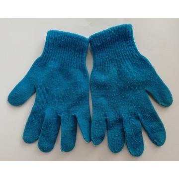 Dziecięce niebieskie rękawiczki - rozmiar 5-7 lat