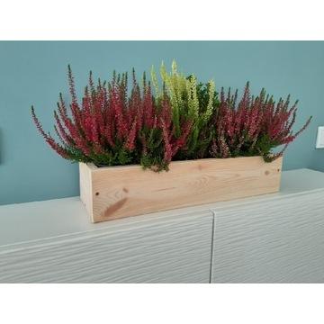 Skrzynka doniczka na kwiaty zioła 50x15x10wys