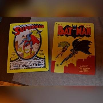 Metalowe plakaty / tabliczki Superman i Batman