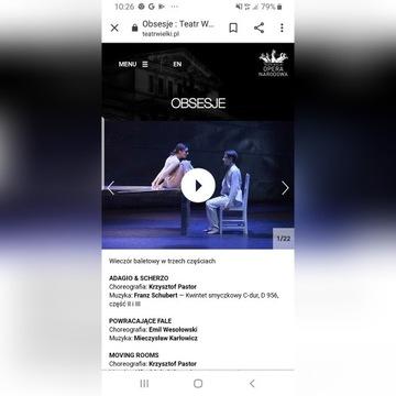 Bilety na balet Obsesje 23 maja 2020