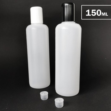 100x Butelka 150ml plastikowa hdpe korek dozownik