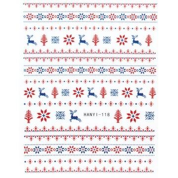 Naklejki na paznokcie Christmas / Święta HANYI 118