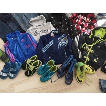Zestaw dla chłopca 110-128 bluza jeansy dresy buty
