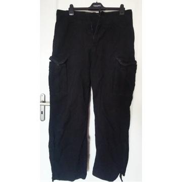 Spodnie bojówki czarne grube XXL