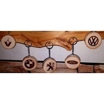 Brelok do kluczy rustykalny drewniany