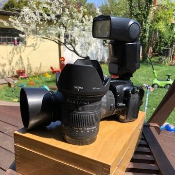 Aparat cyfrowy Canon 400d 2 obiektywy i lampa