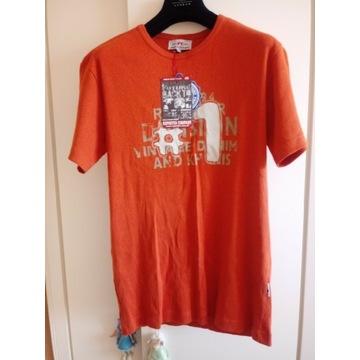 T-shirt nowy REPORTER XXL pomarańcz nadruk