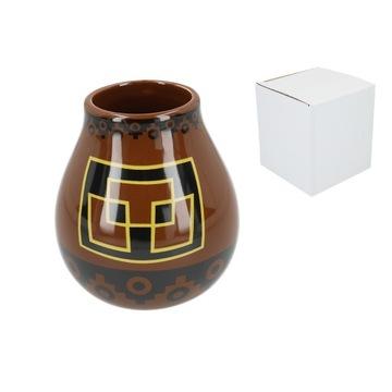 Matero Ceramico PERU BROWN yerba