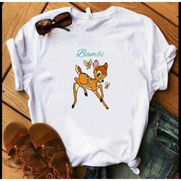 Koszulka bluzka t-shirt myszka Minnie bambi