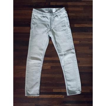 Śliczne jeansowe tregginsy H&M, roz. 128 cm
