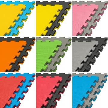 Mata PRO 2cm puzzle piankowa fitness ćwiczeń jogi