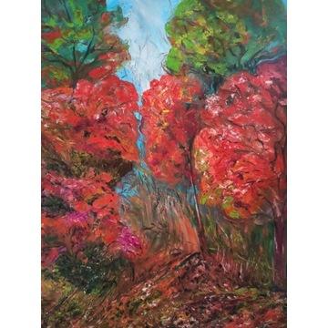Jesienny zakątek_obraz olejny_S.E. Stańczyk