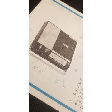 UNITRA Magnetofon kasetowy MK125 Instrukcja