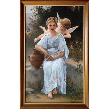 Obraz olejny - Szepty miłości - W. A. Bouguereau