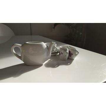 Zestaw kawowy porcelanowy małej księżniczki