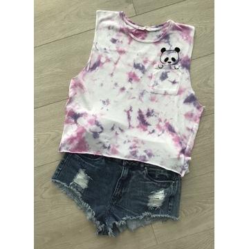 Pull&Bear koszulka tie dye luźna S bez rękawów