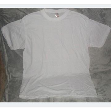 Koszulka T-shirt  Biała rozmiar XXL na nadruki