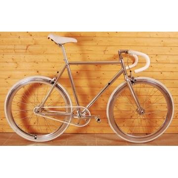 Kolarzówka, rower vintage, ostre koło, 28, chrom