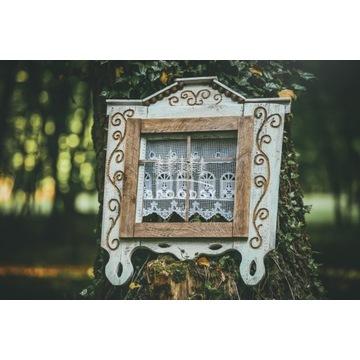 Okno drewniane - ręcznie wykonane