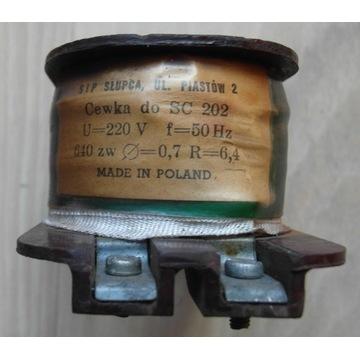 Cewka SC-202 220V - drut nawojowy 0,7 około 140mb