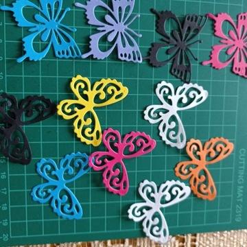 Motyle motylki scrapki dekoracje ślubne 10- szt