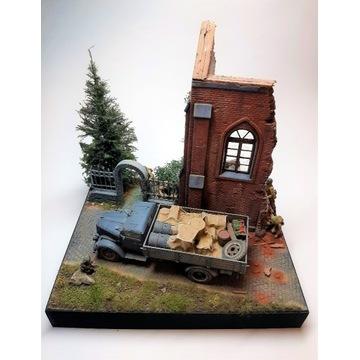 diorama - gotowy model - 1:35 - Tamiya, Miniart