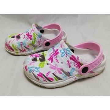 Ładne buciki dziecięce typu croks - rozmiar 27
