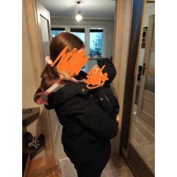 Płaszcz dla dwojga lub ciążowy jesienny.