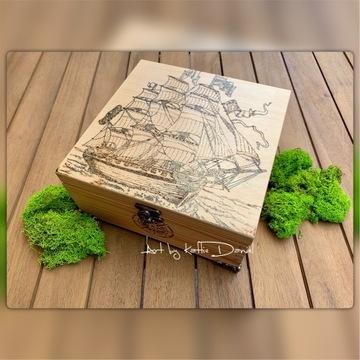 Skrzyneczka / pudełko STATEK