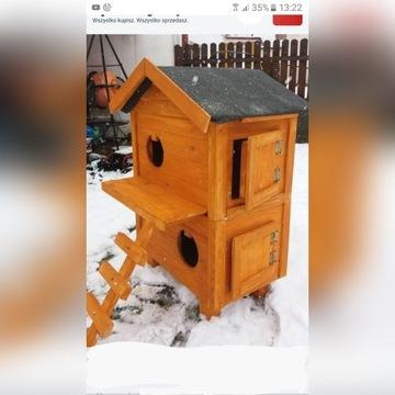 Buda domek dla kota kotów drzwiczki, ocieplona