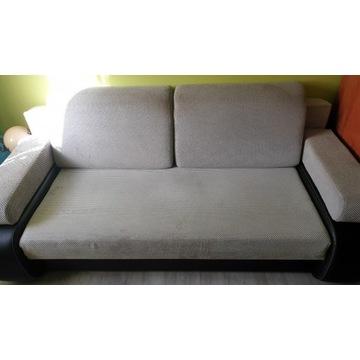 Sofa rozkładana szara ze schowkiem Kanapa Wersalka