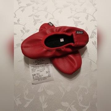 Baletki czerwone skóra ekologiczna roz 27