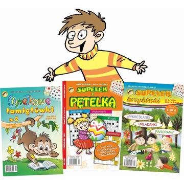 zestaw 3 czasopism dla dzieci wydawnictwa Supełek