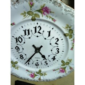Stary zegar Junghans porcelanowy chodzież stan bdb