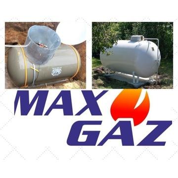 ZBIORNIK na gaz płynny 2700, 4850 montaż propan