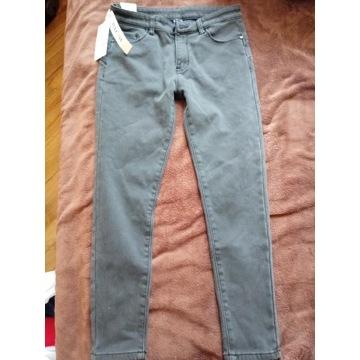 Spodnie damskie jeansy L/XL nowe szare rurki