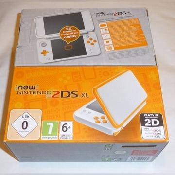 Konsola NEW Nintendo 2DS XL 4GB + CFW + 4 gry