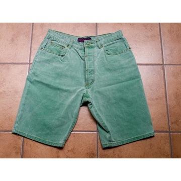 Spodenki jeansowe zielone FLASHLIGHTS BASIC r. 48