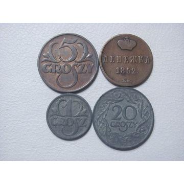 Polska zestaw monet - II RP , XIX w. - od 1 zł.