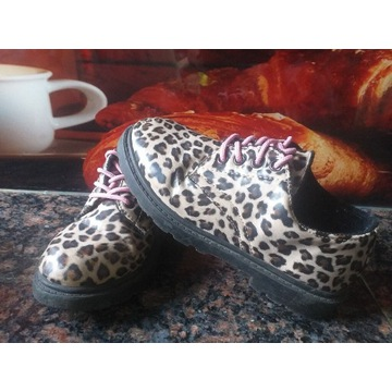 Buty półbuty panterka roz. 32 cm dziewczęce