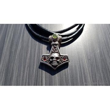 Młot Thora srebro z kamieniami