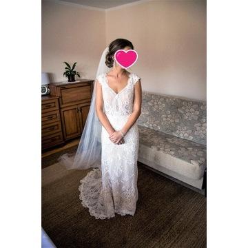 Suknia ślubna - przepiękna koronka