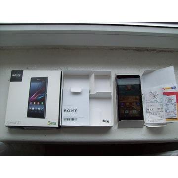 Sony Xperia Z1 Black, zestaw - pęknięty ekran