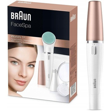 BRAUN Face Spa 3w1 depilator szczoteczka do twarzy