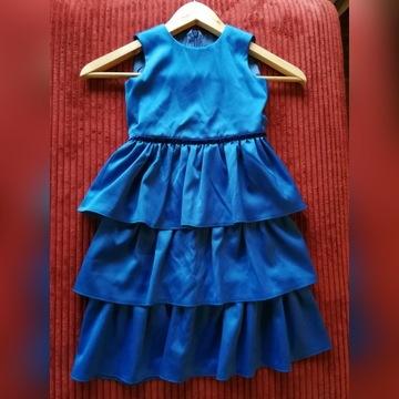Elegancka sukienka 116-122 niebieski